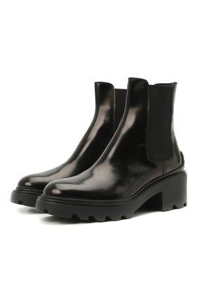 Женские кожаные ботинки TOD'S черного цвета, арт. XXW08D0EA10AKT | Фото 1
