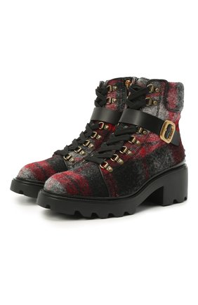 Женские текстильные ботинки TOD'S серого цвета, арт. XXW08D0EG40PXB | Фото 1