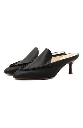 Женские кожаные мюли TOD'S черного цвета, арт. XXW09D0EB20G0C | Фото 1
