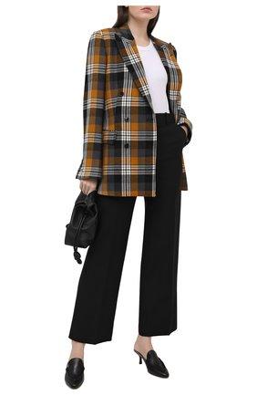 Женские кожаные мюли TOD'S черного цвета, арт. XXW09D0EB20G0C | Фото 2