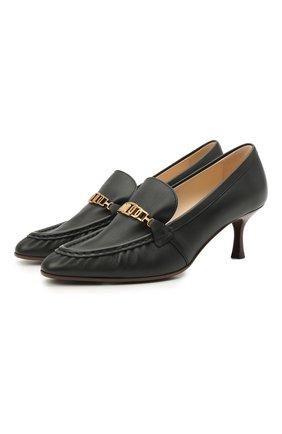 Женские кожаные туфли TOD'S черного цвета, арт. XXW09D0EC80MID | Фото 1