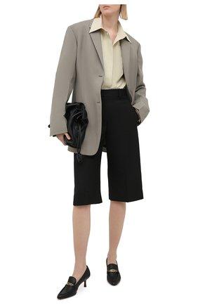 Женские кожаные туфли TOD'S черного цвета, арт. XXW09D0EC80MID | Фото 2