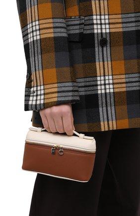 Женская поясная сумка LORO PIANA коричневого цвета, арт. FAL6547 | Фото 2