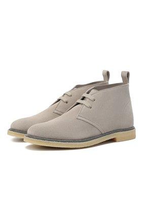 Женские замшевые ботинки BRUNELLO CUCINELLI серого цвета, арт. MZSFG1377 | Фото 1