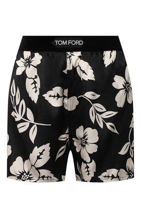 Женские шелковые шорты TOM FORD черно-белого цвета, арт. SH0020-FAP152 | Фото 1