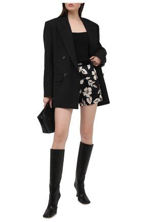 Женские шелковые шорты TOM FORD черно-белого цвета, арт. SH0020-FAP152 | Фото 2