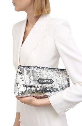 Женский сумка label TOM FORD серебряного цвета, арт. L1399P-ISA016   Фото 2