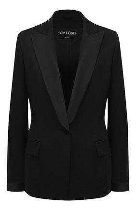 Женский шерстяной жакет TOM FORD черного цвета, арт. GI2814-FAX733   Фото 1