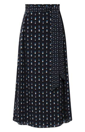 Женская шелковая юбка LORO PIANA темно-синего цвета, арт. FAL6379 | Фото 1