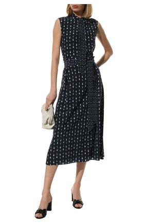 Женская шелковая юбка LORO PIANA темно-синего цвета, арт. FAL6379 | Фото 2