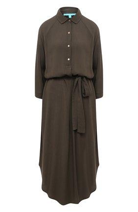 Женское платье из вискозы MELISSA ODABASH хаки цвета, арт. ALESHA   Фото 1