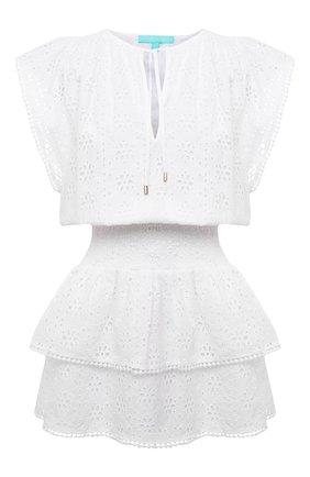 Женское хлопковое платье MELISSA ODABASH белого цвета, арт. KERI | Фото 1