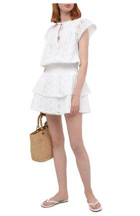 Женское хлопковое платье MELISSA ODABASH белого цвета, арт. KERI | Фото 2