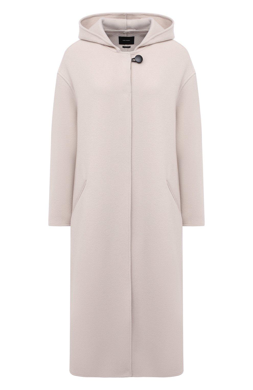 Женское шерстяное пальто ISABEL MARANT кремвого цвета, арт. MA0919-21P005I/FHACENE | Фото 1