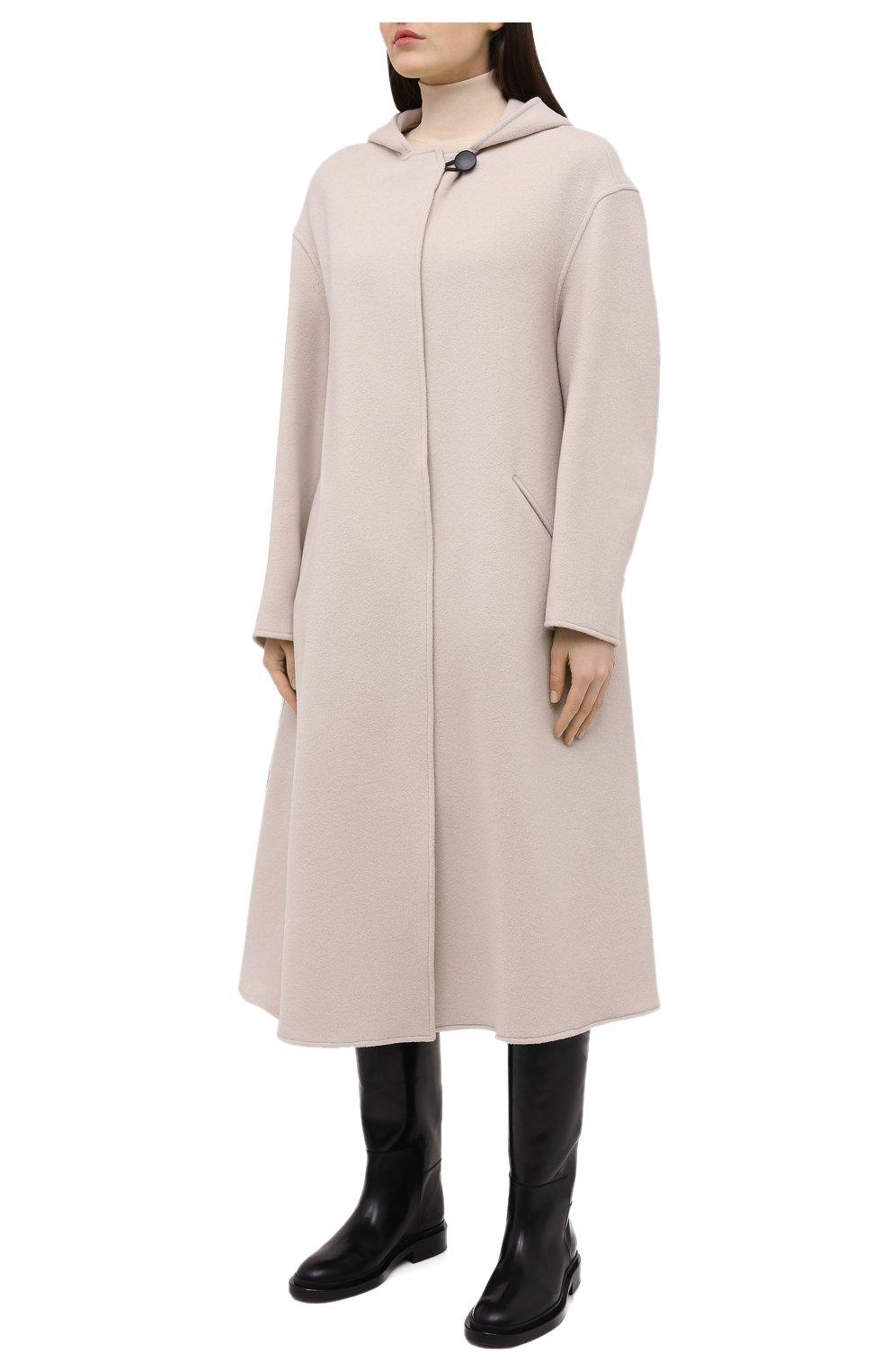 Женское шерстяное пальто ISABEL MARANT кремвого цвета, арт. MA0919-21P005I/FHACENE | Фото 3