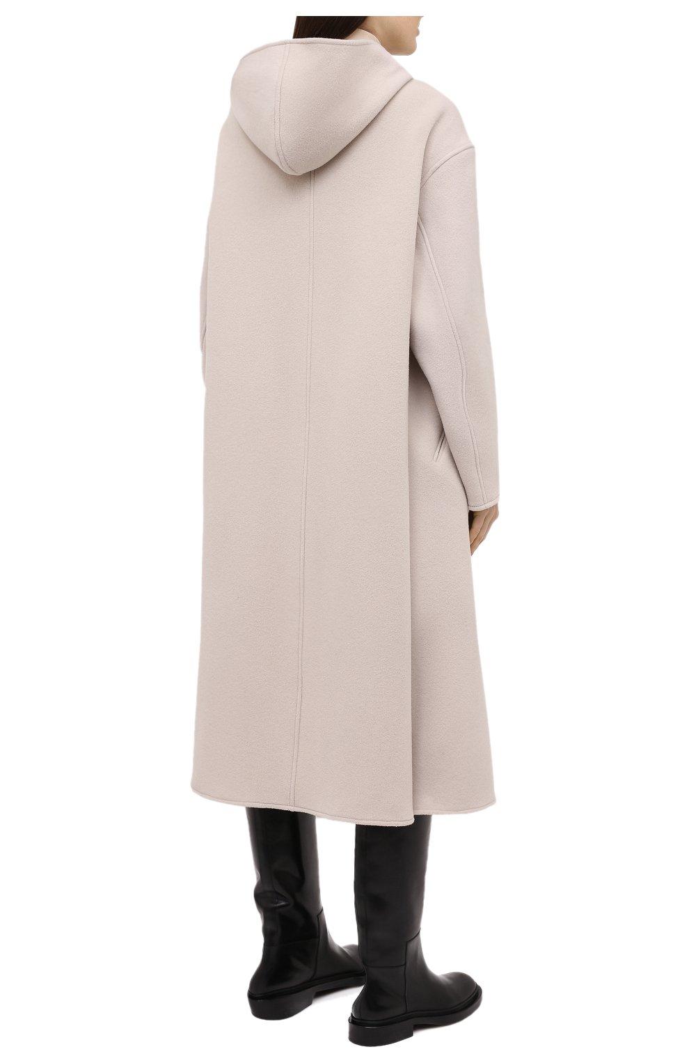 Женское шерстяное пальто ISABEL MARANT кремвого цвета, арт. MA0919-21P005I/FHACENE | Фото 4