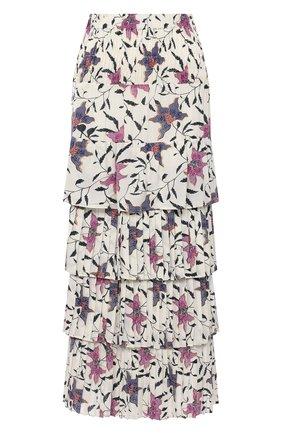 Женская юбка из вискозы ISABEL MARANT ETOILE кремвого цвета, арт. JU1251-21P028E/0RFE0 | Фото 1