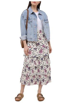 Женская юбка из вискозы ISABEL MARANT ETOILE кремвого цвета, арт. JU1251-21P028E/0RFE0 | Фото 2
