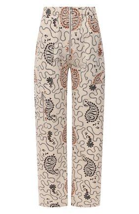Женские хлопковые брюки ISABEL MARANT ETOILE кремвого цвета, арт. PA1868-21P015E/N0FERIS | Фото 1
