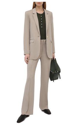 Женские брюки ISABEL MARANT бежевого цвета, арт. PA1890-21P012I/S0R0KIA   Фото 2