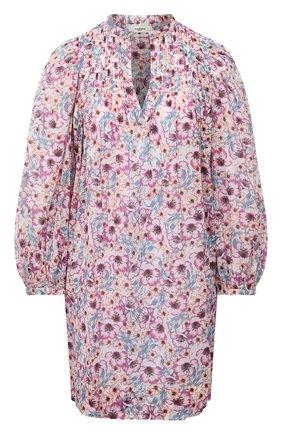 Женское хлопковое платье ISABEL MARANT ETOILE светло-розового цвета, арт. R01591-21P009E/VIRGINIE | Фото 1
