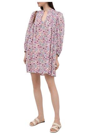 Женское хлопковое платье ISABEL MARANT ETOILE светло-розового цвета, арт. R01591-21P009E/VIRGINIE | Фото 2