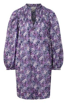 Женское хлопковое платье ISABEL MARANT ETOILE фиолетового цвета, арт. R01591-21P009E/VIRGINIE | Фото 1