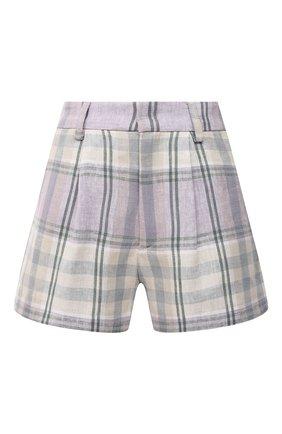 Женские льняные шорты ISABEL MARANT ETOILE сиреневого цвета, арт. SH0385-21P012E/ILAB0T | Фото 1