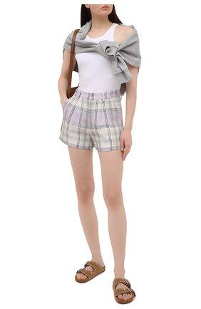 Женские льняные шорты ISABEL MARANT ETOILE сиреневого цвета, арт. SH0385-21P012E/ILAB0T | Фото 2