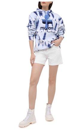 Женский хлопковое худи ISABEL MARANT ETOILE синего цвета, арт. SW0031-21P038E/MANSEL | Фото 2