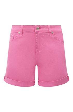 Женские джинсовые шорты 7 FOR ALL MANKIND розового цвета, арт. JSWUA850WI | Фото 1