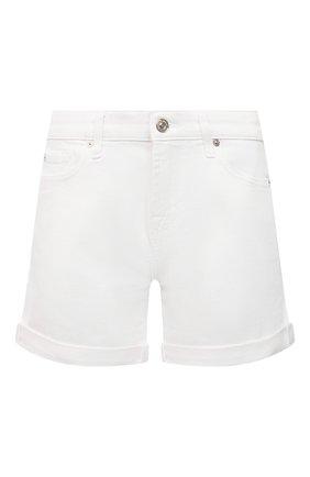 Женские джинсовые шорты 7 FOR ALL MANKIND белого цвета, арт. JSWUA850WH | Фото 1