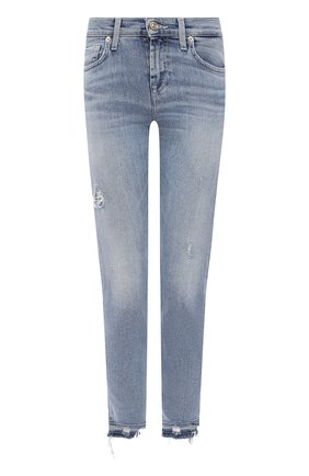 Женские джинсы 7 FOR ALL MANKIND голубого цвета, арт. JSVU1200SD | Фото 1