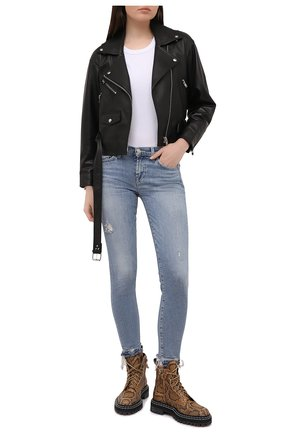 Женские джинсы 7 FOR ALL MANKIND голубого цвета, арт. JSVU1200SD | Фото 2