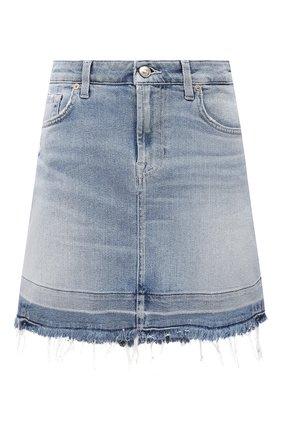 Женская джинсовая юбка 7 FOR ALL MANKIND голубого цвета, арт. JSQF1200LS | Фото 1
