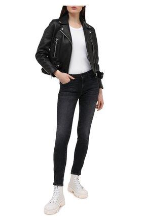 Женские джинсы 7 FOR ALL MANKIND черного цвета, арт. JSL4R850L0 | Фото 2