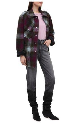 Женские джинсы 7 FOR ALL MANKIND серого цвета, арт. JSA7U790SG | Фото 2