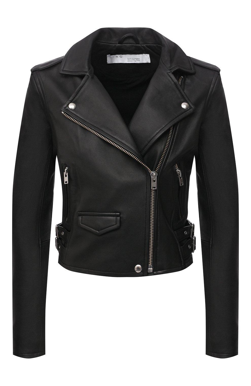 Женская кожаная куртка IRO черного цвета, арт. WF09ASHVILLE   Фото 1
