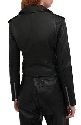 Женская кожаная куртка IRO черного цвета, арт. WF09ASHVILLE   Фото 4