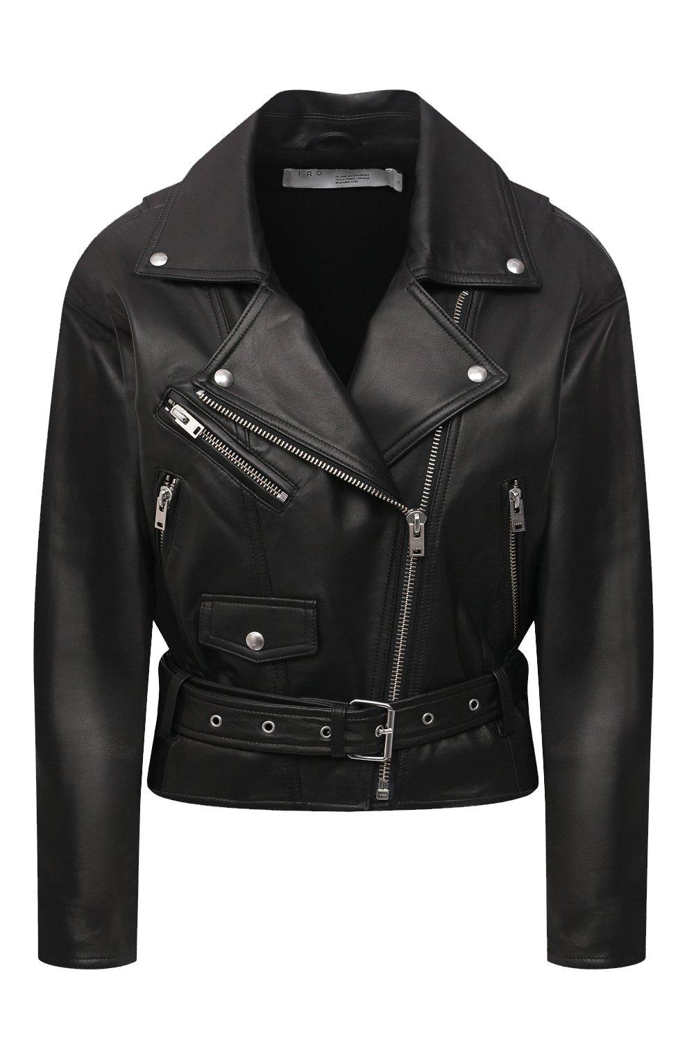 Женская кожаная куртка IRO черного цвета, арт. WP09DISTHEN | Фото 1