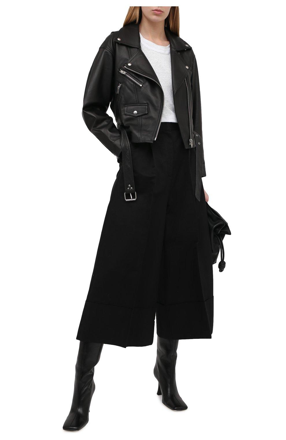 Женская кожаная куртка IRO черного цвета, арт. WP09DISTHEN | Фото 2