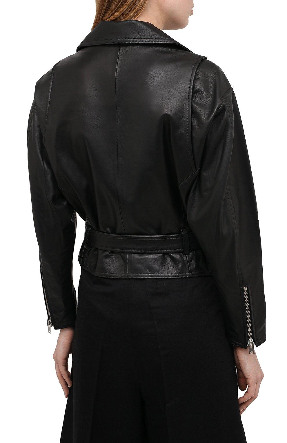 Женская кожаная куртка IRO черного цвета, арт. WP09DISTHEN | Фото 4