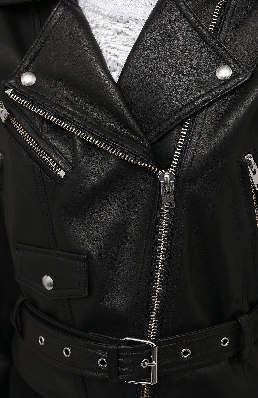 Женская кожаная куртка IRO черного цвета, арт. WP09DISTHEN | Фото 5