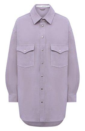 Женская замшевая рубашка IRO сиреневого цвета, арт. WP18W0LFRA | Фото 1
