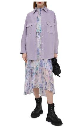 Женская замшевая рубашка IRO сиреневого цвета, арт. WP18W0LFRA | Фото 2