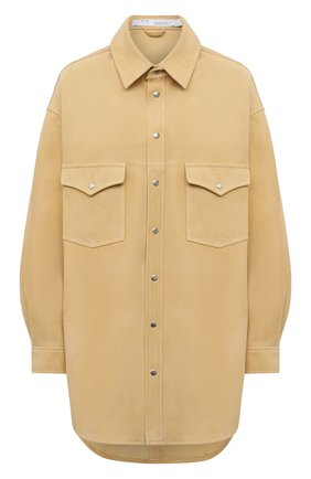 Женская замшевая рубашка IRO желтого цвета, арт. WP18W0LFRA | Фото 1