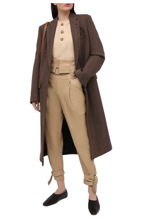 Женские замшевые брюки IRO бежевого цвета, арт. WP23LIMEST | Фото 2