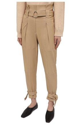 Женские замшевые брюки IRO бежевого цвета, арт. WP23LIMEST | Фото 3
