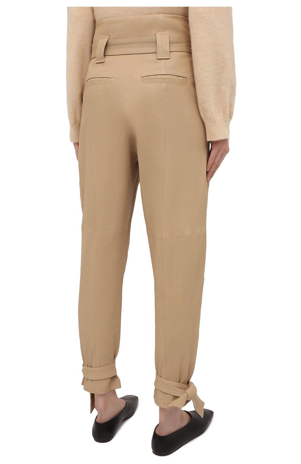 Женские замшевые брюки IRO бежевого цвета, арт. WP23LIMEST | Фото 4