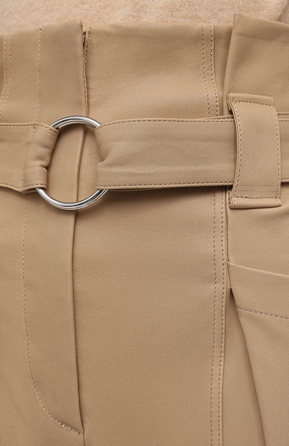 Женские замшевые брюки IRO бежевого цвета, арт. WP23LIMEST | Фото 5
